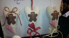 Hearts with gingerbread men Gingerbread Men, Hearts, Lace Up, Heart