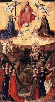 The Last Judgment With the Ten Wise and Foolish Virgins by Unknown Flemish Master