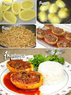 Patates Karnıyarığı Tarifi potato al horno asadas fritas recetas diet diet plan diet recipes recipes Carrot Recipes, Cauliflower Recipes, Potato Recipes, Meat Recipes, Pasta Recipes, Cooking Recipes, Healthy Recipes, Potato Tomato Recipe, Middle Eastern Recipes