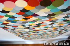 Lansdowne Life: Repurposed paint chip artwork. Wow. Could also do this with square chips. HOW COOL.