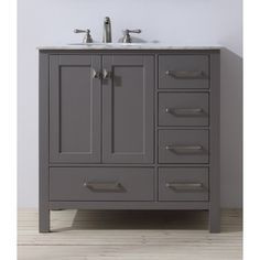 Stufurhome 36 inch Malibu Grey Single Sink Bathroom Vanity - 17659969 - Overstock Shopping - Great Deals on Stufurhome Bathroom Vanities
