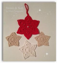 Estrellas de ganchillo para Navidad