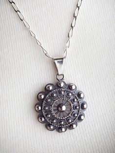 Charro Button Pendant on Chain