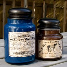 DIY Antiqued Apothecary Jars