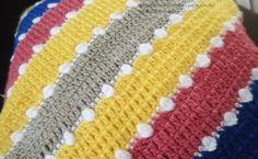 Almofada de Croche em Diagonal