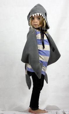 Childrens Shark Costume dress up cape by sparrowandbcostumery