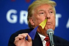 9 Pictures of Donald Trump Pulling Flags Out of His Nose
