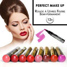 Rouge à lèvres feutre Semi-permanente professionnel.  Semi Permanent : votre maquillage impeccable et lumineux pendant 12h, résiste à l'eau.   http://www.jbar.fr/esthetique/maquillage/levres/lipliner-semi-permanent.html?order=marks=desc