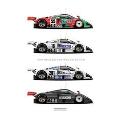 I've definitely got a thing for the lesser known variants of well known cars. Dirtynailsbloodyknuckles.com  Link in profile  #mazda #787 #787b #mazdaspeed #mazda787 #mazda787b #4rotor #3rotor #26b #13b #rotary #rotarylife #renown #767 #mazda767 #lemans #lm24 #carart #automotiveart #garageart #raceart #racingart #lemansart