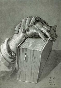 Hands on the Bible by Albrecht Durer, 1506