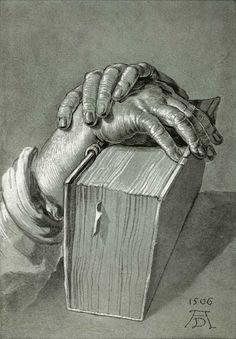 Hands on the Bible by Albrecht Durer, 1506