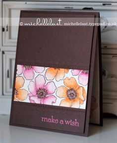 Bright card using fabulous florets from Stampin up by Michelle Last www.michellelast.typepad.co.uk