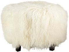 Outpost Original Tibetan Lamb Ottoman - - Barneys.com