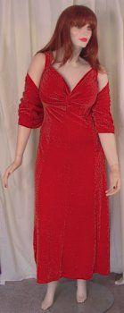 7e854ff0d2f2b Red Glimmer Slinky 2 Piece Princess Cut Sexy Evening Dress! Plus Size    Supersize 0x 1x 2x 3x 4x 5x 6x 7x 8x