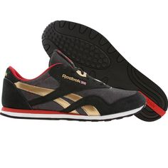 Reebok CL Nylon Slim (black / brass / excellent red / white) 1-V63975 - $49.99