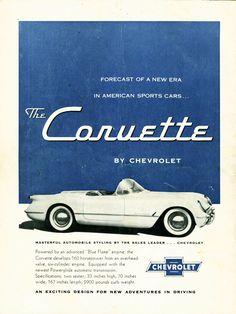 Chevrolet Corvette 1954 Advertisement