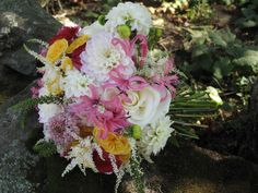 Bridal bouquet by Alison Ellis, Floral Artistry via floralartvt.com #weddingflowers Pink and white flowers
