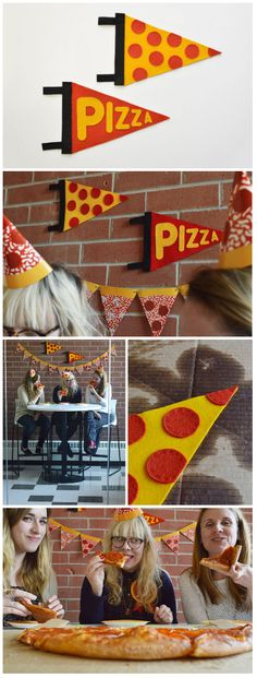 make a pennant to show off just how much you love pizza.