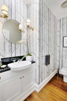 10 ideas para decorar el cuarto de baño con papel pintado. | Mil Ideas de Decoración