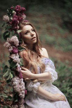 Springtime memories - Anna Tikhonova as princess of the forest.