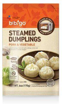 Amazon Com Bibigo Steamed Dumplings Pork And Vegetable 6 Ounce