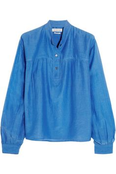 Étoile Isabel Marant | Laper cotton and silk-blend blouse | NET-A-PORTER.COM