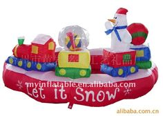 xmas decorations inflatables merry-go-round rotate China (Mainland) Other Holiday Supplies