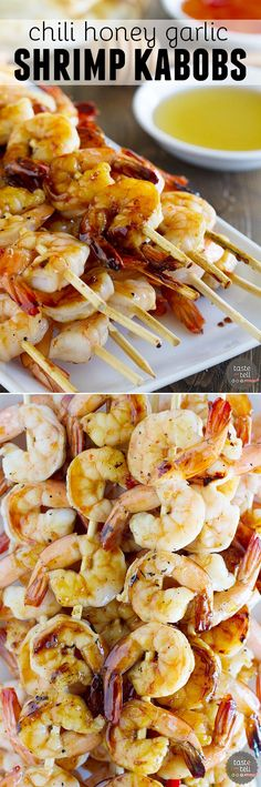 Chili Honey Garlic Shrimp Kabobs - The perfect recipe for a night at the grill.