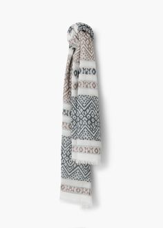 Embroidered cotton scarf - Scarves for Women | MANGO