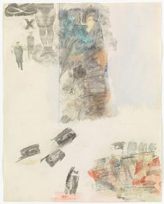 Robert Rauschenberg. Canto XII: Circle Seven, Round 1, The Violent Against Neighbors from the series Thirty-Four Illustrations for Dante's Inferno. (1959-60)