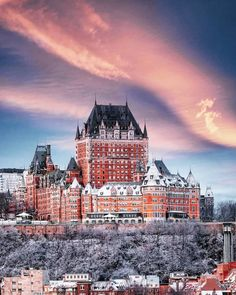 The world's most beautiful places to spend Christmas - Vogue Australia Quebec Montreal, Quebec City, World Most Beautiful Place, Wonderful Places, Beautiful Castles, Beautiful Buildings, Places To Travel, Places To Visit, Chateau Frontenac