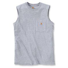 Sleeveless T-Shirt,Carhartt workwear,Maddock pocket,T-Shirt Workwear Brands, Carhartt Workwear, Work Wear, Heather Grey, Athletic Tank Tops, Pocket, Sleeve, T Shirt, Clothes