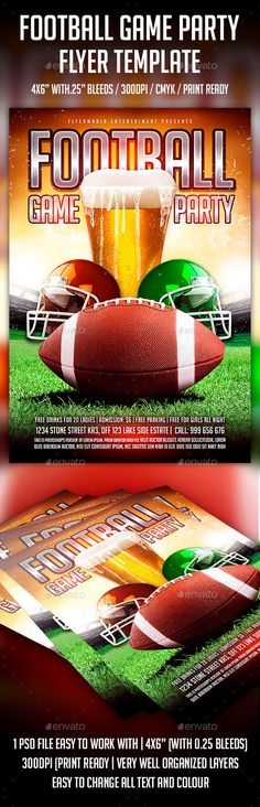 FootBall Game Flyer Template Psd templates, Flyer template and - soccer flyer template