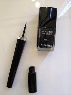 La bonne idée @CHANEL? Assortir son eyeliner à son vernis! #VFNO