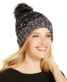 INC International Concepts Nordic Feather Beanie, Only at Macy's