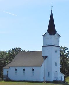 114. The old Pauli Church on Highway 11 near Greenbush, Roseau County,  Minnesota.  Originally located on the other side of the highway, it was moved a few years ago to Pelan Park.  Occasionally it is still used for weddings, funerals, and holiday events. -- Photo by Eunice Korczak 2013