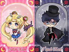 Sailor Moon and Tuxedo Mask by StarMasayume.deviantart.com on @deviantART