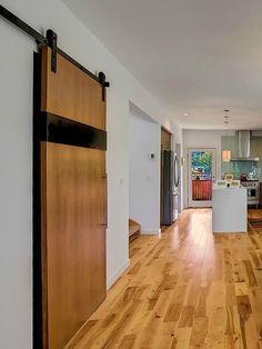 sliding barn doors in kitchen