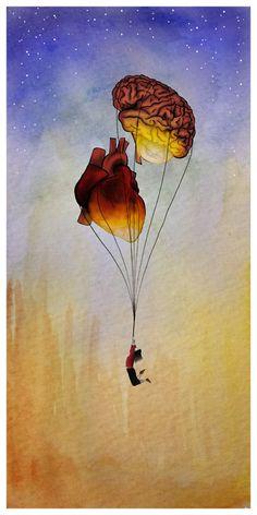 "The last pinner said: ""By Meagan Laurel #brain #heart #balloon"""