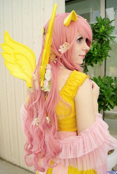 I'm going to be Fluttershy for Halloween! :)