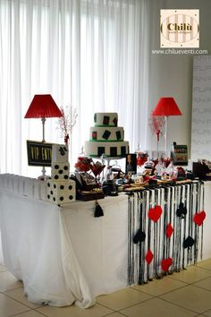 Casino party candy buffet
