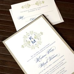 Printable Wedding Invitations Vintage Wedding Invitations Monogram Wedding Invitations Digital Files for Self-Print. $45.00