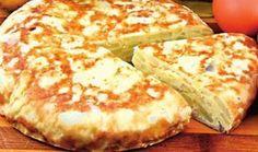 Plăcintă de cartofi   Click! Pofta Buna! Romanian Food, Crackers, Baked Potato, Bacon, Brunch, Dairy, Food And Drink, Pizza, Cheese