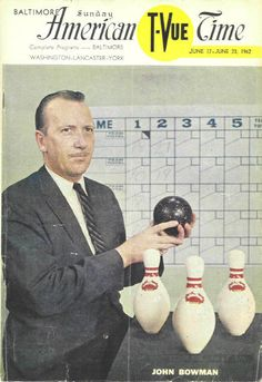 "this was a show where folks would compete to win money by Duck Pin bowling on TV. There was also a show called ""Dialing for Dollars. John Bowman, Susquehanna River, City Hospital, Win Money, Baltimore Maryland, Classic Tv, Bowling, Old Photos, Growing Up"