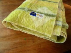 Mid Century Geometric  50s Pure Woolen BLANKET  by TrackofTime, €30.00