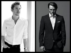 Hugh Dancy and Mads Mikkelson from Hannibal