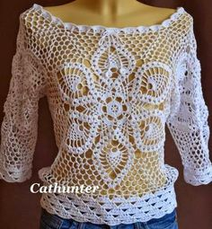 Crochet treasure trove: network-shirt with big flower
