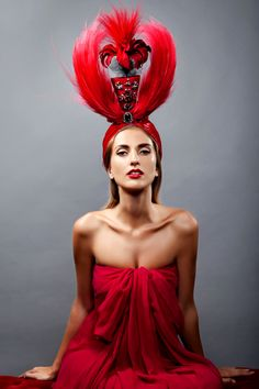 """""""Maharaja"""" headdress, created by Anya Caliendo for SS2016 """"Balthazar"""" Collection. Photographed by Ed Hafizov. All rights reserved @anyacaliendo ."""