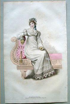 Regency fashion plate, Belle Assemblee 1818.