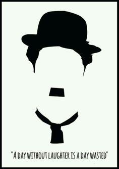 Charlie Chaplin poster Charlie Chaplin art Quote by Redpostbox Disney Fantasy, Pop Art, Charles Spencer Chaplin, Silent Film Stars, Stencil Art, Joker Stencil, Comedians, Vintage Posters, Illustrations Posters
